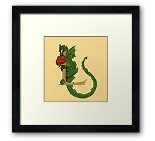 "Oscar and the Roses ""L - Tail"" (Illustrated Alphabet) Framed Print"