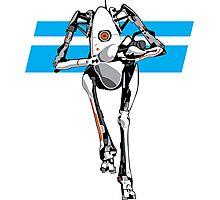 Portal 2 - Tall Robot Photographic Print