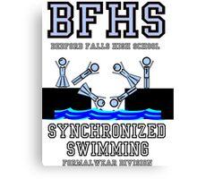 Bedford Falls Highs School Synchronized Swimming - Formalwear Division Canvas Print
