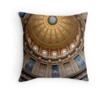 Capitol Dome (Lansing, Michigan) Throw Pillow