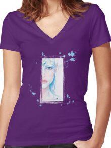 Light Body Women's Fitted V-Neck T-Shirt