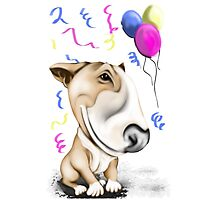 Party Bull Terrier Tan Photographic Print