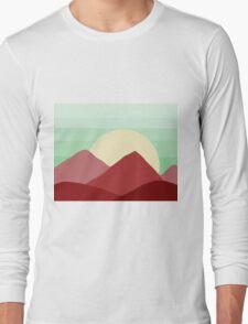 Red Land, Green Skies Long Sleeve T-Shirt