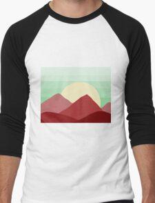 Red Land, Green Skies Men's Baseball ¾ T-Shirt