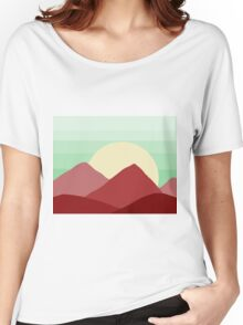 Red Land, Green Skies Women's Relaxed Fit T-Shirt
