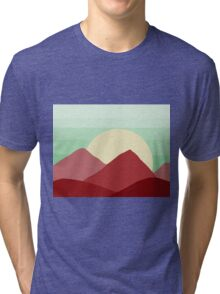 Red Land, Green Skies Tri-blend T-Shirt