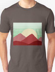 Red Land, Green Skies Unisex T-Shirt