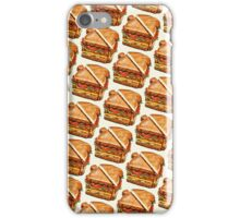 Turkey Club Sandwich Pattern iPhone Case/Skin