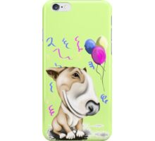 Party Bull Terrier Tan iPhone Case/Skin