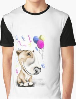 Party Bull Terrier Tan Graphic T-Shirt