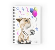 Party Bull Terrier Tan Spiral Notebook