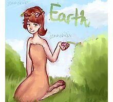 Earth Girl Photographic Print