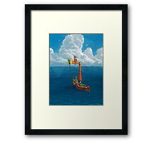 Wind Waker-Lone Ocean Remastered! Framed Print