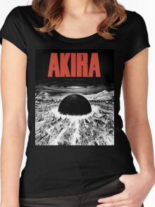 AKIRA - BLAST (WHITE) TSHIRT Women's Fitted Scoop T-Shirt