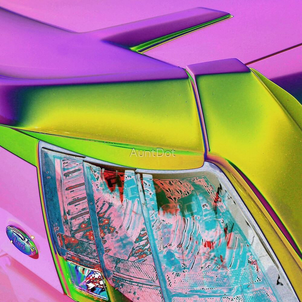 Mustang Tail Abstract by AuntDot