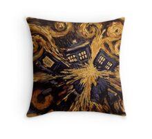 Doctor Who- Van Gogh Exploding Tardis Throw Pillow