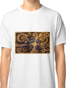 Doctor Who- Van Gogh Exploding Tardis Classic T-Shirt