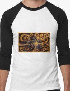 Doctor Who- Van Gogh Exploding Tardis Men's Baseball ¾ T-Shirt