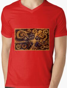 Doctor Who- Van Gogh Exploding Tardis Mens V-Neck T-Shirt