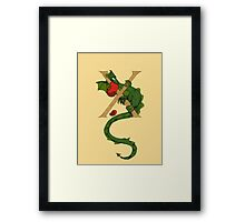 "Oscar and the Roses ""X"" (Illuminated Alphabet) Framed Print"