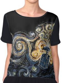 Doctor Who- Van Gogh Tardis Chiffon Top