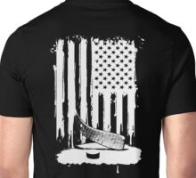 Hockey Stick Pulp And Flag Unisex T-Shirt