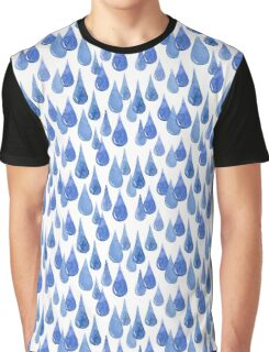 Water drop watercolor hand drawn seamless pattern background. Graphic T-Shirt