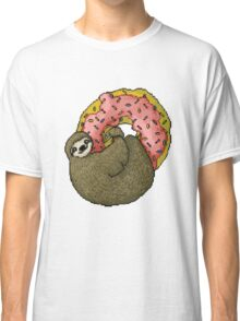 Pixel Sloth and Donut Classic T-Shirt