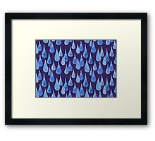Water drop watercolor hand drawn seamless pattern background. Framed Print