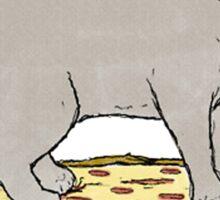 Cat Skateboarding on Pizza Sticker