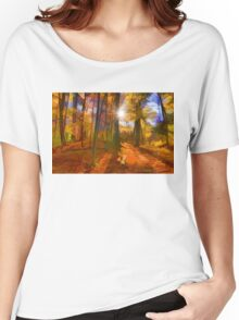 Brilliant, Colorful Autumn Forest Impression Women's Relaxed Fit T-Shirt