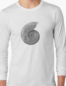Ammonite Fossil Long Sleeve T-Shirt