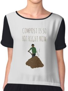 Compost Is So Hot Right Now Chiffon Top