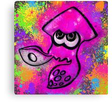 I've Got an Inkling - Pink + Charcoal Canvas Print