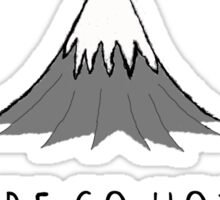 Volcanoes are so hot right now Sticker