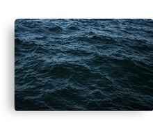 Sea surface. Background. Texture. Canvas Print