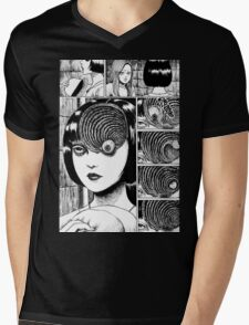 Uzumaki / Spiral - Junji Ito Tshirt (High Quality) Mens V-Neck T-Shirt