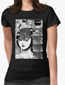 Uzumaki / Spiral - Junji Ito Tshirt (High Quality) Womens Fitted T-Shirt