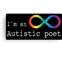 Autistic Poet Canvas Print