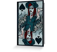 Ellen, Vampire Queen of Spades Greeting Card