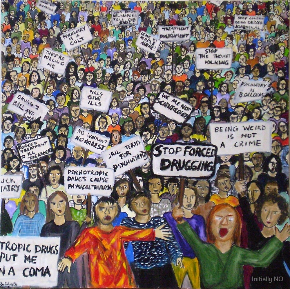 Protest by Initially NO