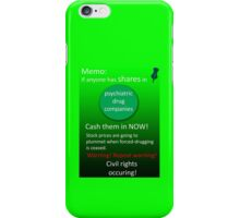 Shares warning! iPhone Case/Skin