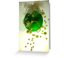 The green of christmas Greeting Card
