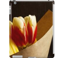 Bouquet of yellow and white red tulips iPad Case/Skin