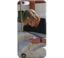 """Repairing the sail, """"Oosterschelde"""", Hobart, Tasmania iPhone Case/Skin"""