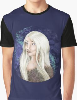 White Forest Elf Graphic T-Shirt