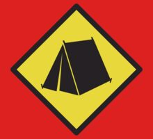 BEWARE tent camping sign One Piece - Short Sleeve