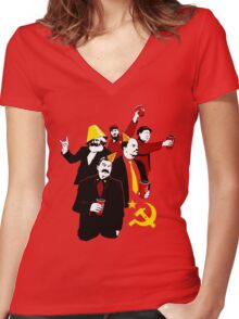 Communist Party CCCP Women's Fitted V-Neck T-Shirt