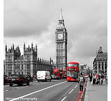 Postcards from London - Red Bus Photographic Print