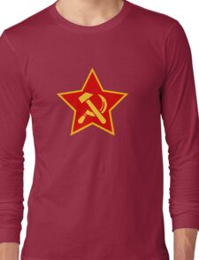 Communist CCCP Logo Long Sleeve T-Shirt